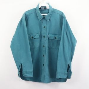Vintage Woolrich Chamois Cloth Outdoor Shirt Teal